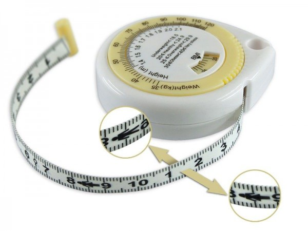 Banda metrica, para masurarea perimetrelor + indice de masa corporala BMI (2 in 1)