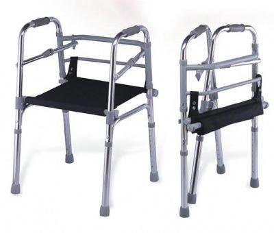 Cadru de mers din aluminiu cu scaun pliabil,reglabil in inaltime, confortabil