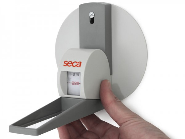 Tija de măsurare tip banda de fixare de perete, cursorul lat, gama 0-220cm, divizia 1mm